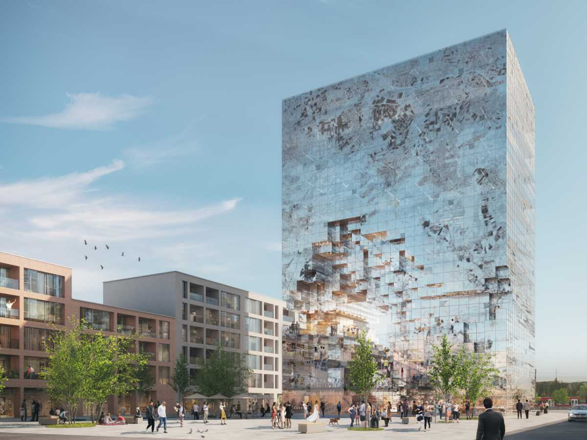 Архитекторы показали концепцию здания с QR-кодами