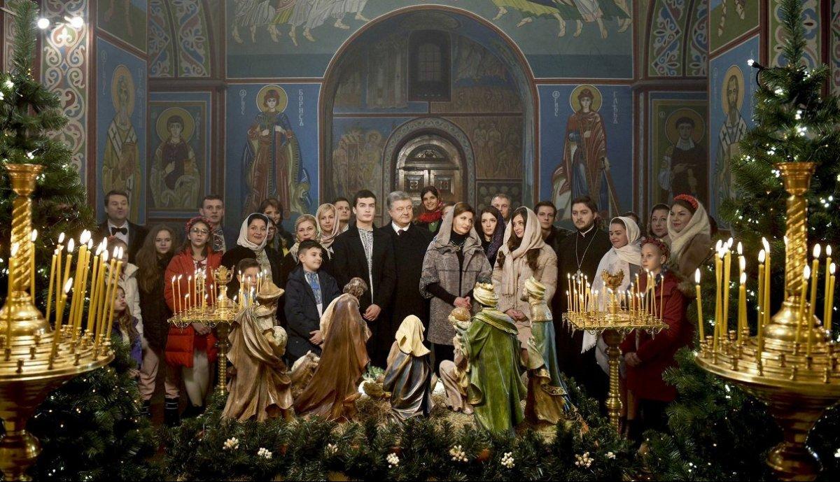 Телеканал «Украина» покажет, как Петр Порошенко Рождество с народом отмечал