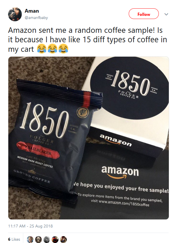 Amazon обновила стратегию и раздает бесплатные пробники