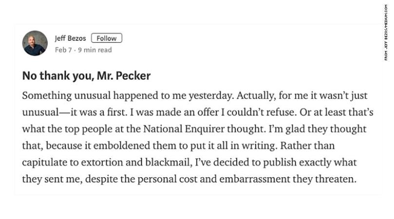 🕵️♂️ Основатель Amazon Джефф Безос обвиняет желтую прессу в шантаже