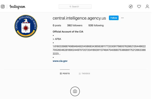 ЦРУ заведет аккаунт в Instagram