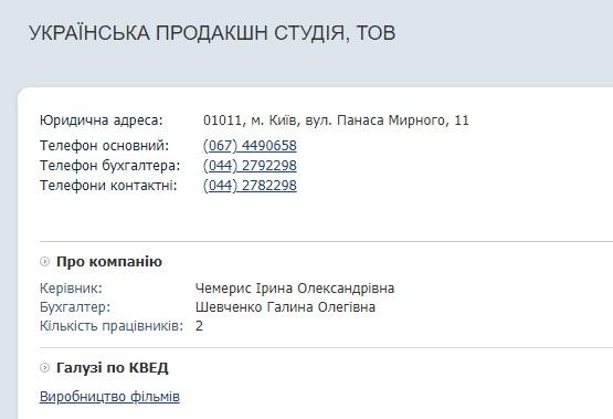 Украинская продакшн студия