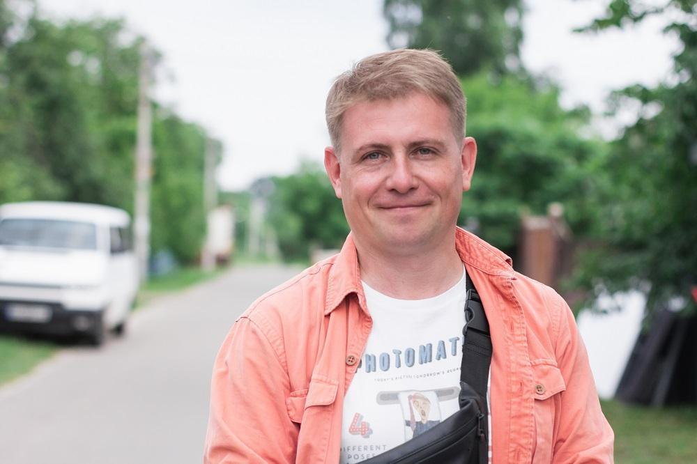 Виктор Медведский, продюсер от IQ production, на съемках