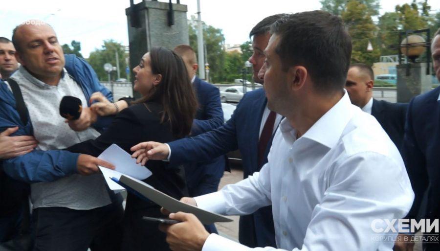 Пресс-секретарь Зеленского оттеснила от него журналиста «Радио Свобода»