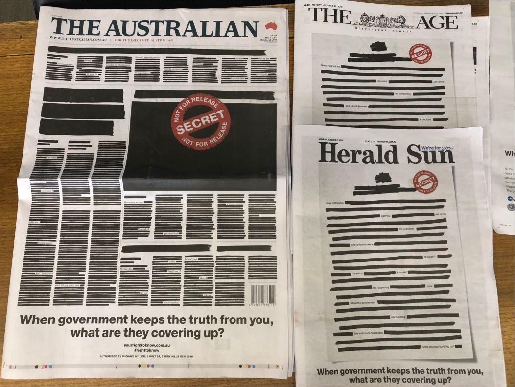 Австралийские газеты выступили против ограничения свободы слова